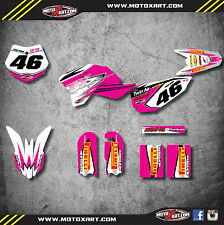KTM 50 SX 2009 - 2015 Full Custom Graphic Kit - PINK SHOCKWAVE - decals stickers
