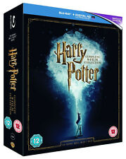 HARRY POTTER Complete 8-Film 2016 Collection [Blu-ray Box Set] Movies 1-8 NO UV