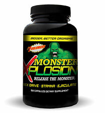 MONSTER XPLOSION  MALE ENHANCEMENT EJACULOID EJACULATON SEX DRIVE 120 Pills