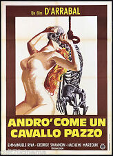 ANDRO' COME UN CAVALLO PAZZO MANIFESTO CINEMA EXPLOITATION 1973 MOVIE POSTER 2F