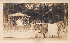 HORSE PULLING PARADE FLOAT REAL PHOTO POSTCARD c1910s