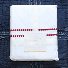 Pottery Barn Pearl EMBROIDERED 280-THREAD-COUNT DUVET COVER King Cardinal Red