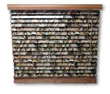 """2"""" Camouflage Camo Wooden Mini Blinds Realtree Hardwoods 27 x 64"""