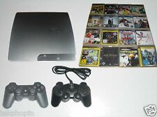 Sony PS3 Slim 320GB Konsole + 2 Contr. + 5 Spiele Gratis * Playstation 3 Bundle