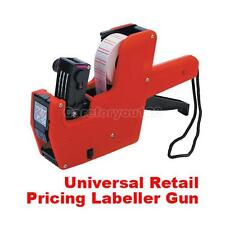 Premium 8 Digital Price Tag Gun Label Labeller Sticker Roller 22x12MM #Cu3
