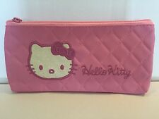 HELLO KITTY STNTHETIC PENCIL CASE/MAKEUP BAG PINK
