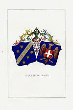Araldica stemma araldico della famiglia Silenzi di Roma