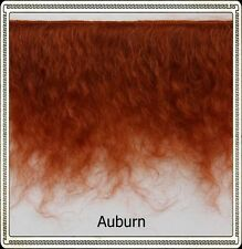 "Mohair Weft AUBURN (Reddish),  5"" - 6"" X 36""   Ideal for Reborn dolls"