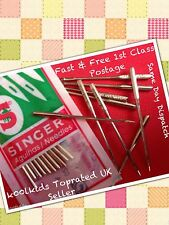 SINGER DOMESTIC SEWING MACHINE NEEDLES 10 IN A PACK SIZE 18  SEALED GENUINE