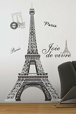 "EIFFEL TOWER BiG 56"" wall Stickers Mural PARIS Room Decor Vinyl Decals"