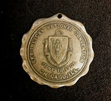 Antique Token Badge Republican National Convention June 16 1908 Chicago Ill.