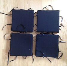 Set di 4 Sgabello Quadrato Cuscino Coprisedia Sedile Tie Pads per cucina sala da pranzo fatto a mano