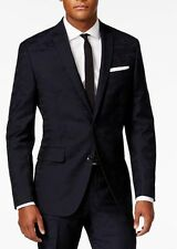 38R NEW BAR III MENS NAVY BLUE CAMO SLIM FIT WOOL BLEND SUIT $600 NWT 33X30
