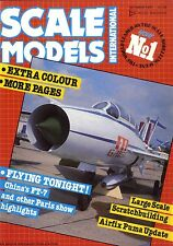 SCALE MODELS MAGAZINE 1987 OCT B1-B FREEDOM BIRD, PUMA RAF TRANSPORT HELICOPTER