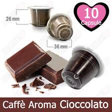 10 Capsule Caffè Tre Venezie Aromatizzato Cioccolato Compatibili Nespresso