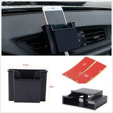 Auto Car Air Outlet Cell Phone Storage Charging Holder Box Double Deck Organizer