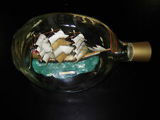 """Vintage Ship In A Bottle """"MARCO POLO"""" 8"""" Pinched Bottle made in England"""