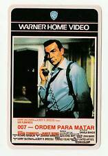 1987 WB Portugese Pocket Calendar James Bond Sean Connery From Russia With Love