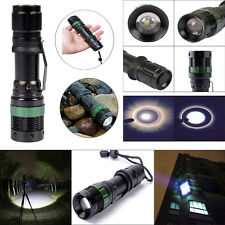 3 Mode 4000 Lumen Zoomable CREE XM-L Q5 LED Tactical Flashlight Torch Light Lamp