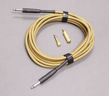 20ft Electric Guitar Effect Pedal Amplifier Link Audio Cable Yellow + 2 Adapters
