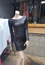 BNWT Gorgeous primark Atmosphere all beads fully lined  black dress UK 6