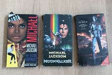 LOT (3) MICHAEL JACKSON 5 JACKSONS VHS MOVIES RARE VINTAGE CONCERT MOONWALKER