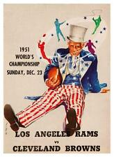 1951 L.A. RAMS vs Cleveland BROWNS  - POSTER -  AMAZING Football SUPER BOWL