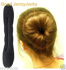 2 x Black Magic Sponge Hair Styling Bun Maker Twist Curler Tool Stick Large size