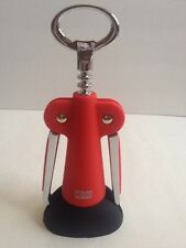 Red Oggi Wing Corkscrew And Bottle Opener With Stand New