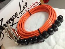George L's 155 Pedalboard Effects Cable Kit .155 Orange / Nickel - 10/10/10
