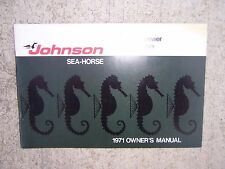 1971 Johnson 2 HP Sea Horse Outboard Motor Owner Manual 2R71  MANY BOAT BOOKS! S