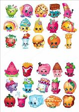 30 x Shopkins Cake Toppers Value Party Pack Fun Edible Decorations Birthday Kids