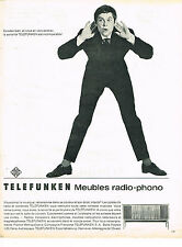 PUBLICITE ADVERTISING   1962   TELEFUNKEN   radio-phono