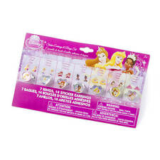 Disney Princess Sticker Earrings & Rings Set Belle Ariel Jasmine Aurora & More!