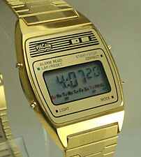 Stunning New Old Stock VULCAIN LCD Digital Alarm Chronograph Mens Watch!!