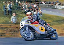 Mike Hailwood Honda RC181 500 Isle of Man TT Birthday Fathers Day Blank Card