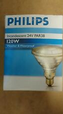 Philips Incandescent PAR38 120W E27 24V 10° Lamp Light Bulb Indoor Outdoor