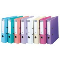 A4 Premium Lever Arch Files Pastel Colours 70mm Depth Smooth Finish