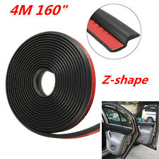 Black 4M Z-Shape Rubber Weatherstrip Car Door Window Edge Moulding Seal Strip