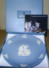 Wedgwood Jasperware Blue Christmas 1997 Nativity Plate Boxed