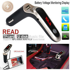 Bluetooth Car Kit Handsfree FM Transmitter Radio MP3 Player With USB Charger AUX