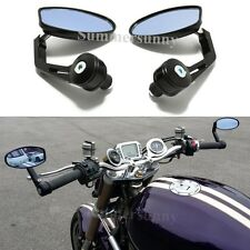 "Universal CNC Handlebar Round Rearview Side Mirrors For 7/8"" Bar End Motorcycle"