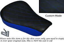 TWO TONE DIAMOND BLUE CUSTOM FITS HARLEY SPORTSTER 883 48 72 RIDER SEAT COVER