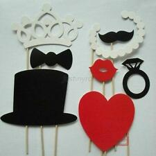 DIY 8pcs Party Masks Photo Booth Props Mustache On A Stick Wedding Party Favor