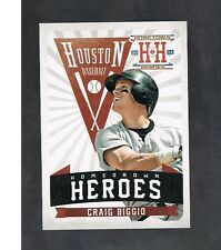 CRAIG BIGGIO #HH9 ASTROS Legend Homegrown Heroes 2013 panini Hometown Heroes