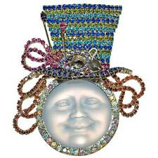 NEW KIRKS FOLLY COUTURE MAD HATTER SEAVIEW MOON PIN