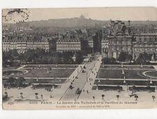 Paris Jardin des Tuilleries & Pavillon de Marsan France Vintage Postcard 230a