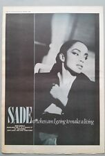 SADE WHEN AM I ... ORIG NME 1984 Magazine Advert Poster Size @