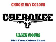 JEEP CHEROKEE 580mm LONGHORN DECAL *CHOICE OF COLOURS*  RM Williams STICKER