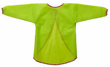 IKEA Green MALA Kids Washable Art Craft Smock Painting Bib Long Sleeve Apron